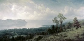 Albert Bierstadt - View of the Hudson Looking Across the Tappanzee