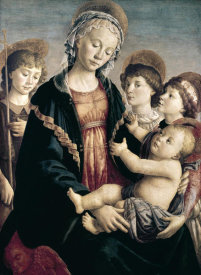 Sandro Botticelli - Madonna & Child With St. John Baptist & Two Angels