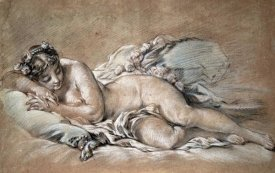 Francois Boucher - A Young Girl Sleeping