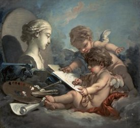 Francois Boucher - Amore, Allegory of Painting