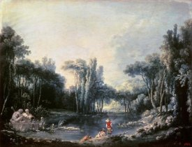Francois Boucher - Landscape With a Pond
