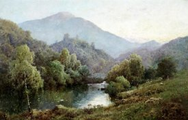 Alfred de Breanski - English Mountain Lake