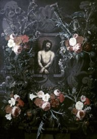 Hendrick ter Brugghen - Christ In a Wreath of Flowers