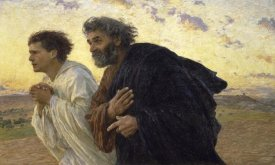 Eugene Burnand - Disciples Peter and John Rushing To The Sepulcherthe Morning of The Resurrection