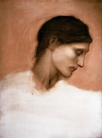 Sir Edward Burne-Jones - Study of a Girl's Head