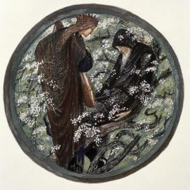 Sir Edward Burne-Jones - Witches Tree. Nimue Beguiling Merlin With Enchantment