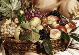 Caravaggio - Boy With Basket of Fruit - Detail
