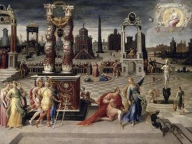 Antoine Caron - Augustus and The Tiburtine Sibyl