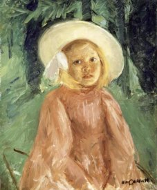 Mary Cassatt - Little Girl in a Currant Colored Dress