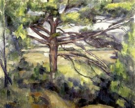 Paul Cezanne - Great Pine and Red Earth