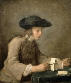 Jean-Baptiste-Siméon  Chardin - House of Cards