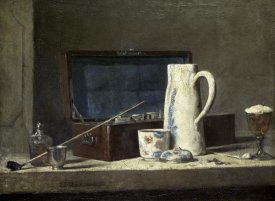 Jean-Baptiste-Siméon  Chardin - Smoking Kit With a Drinking Pot