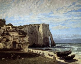 Gustave Courbet - Cliffs of Etretat After a Storm