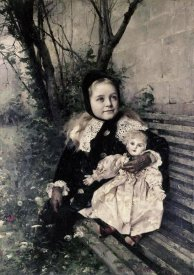 Gustave Claude E. Courtois - Her Favorite Doll