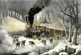 Currier and Ives - American Railroad Scene/Snowbound