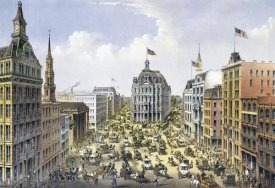 Currier and Ives - Broadway New York