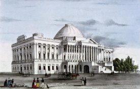 Nathaniel Currier - Capitol at Washington, ca. 1835-1836