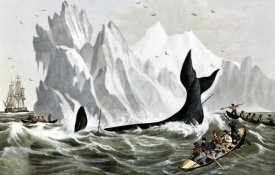 Currier and Ives - Capturing The Whale