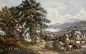 Currier and Ives - Home of Evangeline-Acadian Land