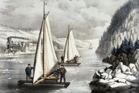 Currier and Ives - Ice Boat Race On The Hudson