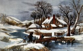 Currier and Ives - Ingleside Winter