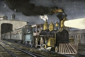 Currier and Ives - Night Express: The Start