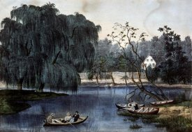 Currier and Ives - Rural Lake