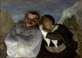 Honore Daumier - Crispin Et Scapin