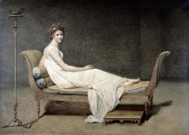 Jacques-Louis David - Portrait of Mrs. Recamier