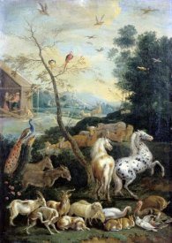 Lambert de Hondt - Animals Assembling before the Flood