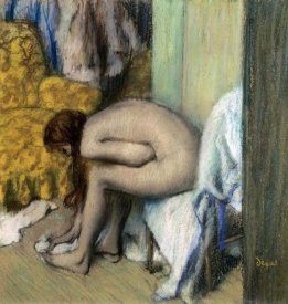 Edgar Degas - After the Bath, Woman Drying Her Feet, 1886