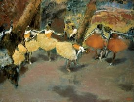 Edgar Degas - Before the Performance