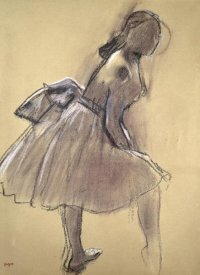 Edgar Degas - Profile of a Dancer Upright