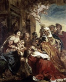 Eugene Delacroix - Adoration of The Kings
