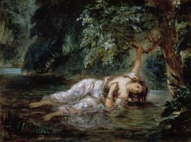 Eugene Delacroix - Death of Ophelia