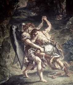 Eugene Delacroix - Jacob Wrestles With The Angel
