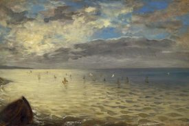 Eugene Delacroix - The Dieppe Sea