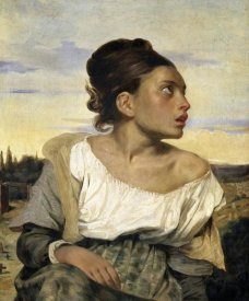 Eugene Delacroix - Young Orphan in the Cemetery