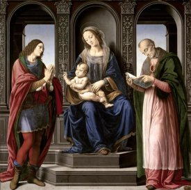 Lorenzo di Cre - Virgin and Child With St. Julian and St. Nicholas of Myra