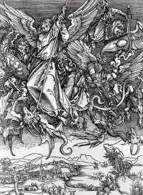 Albrecht Durer - St. Michael Fighting the Dragon