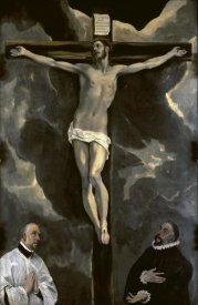 El Greco - Christ on the Cross Adored by Two Donors