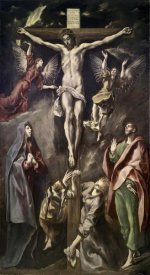 El Greco - Crucifixion With Virgin, Magdalene, St. John & Angels