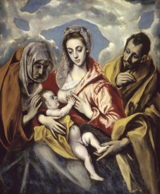 El Greco - Holy Family and Saint Anne