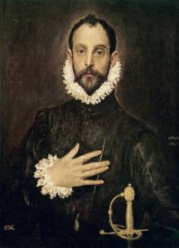 El Greco - Knight With His Hand On His Breast