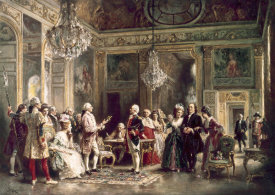 Jean Leon Gerome Ferris - John Paul Jones & B Franklin at Louis XVI's Court