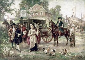 Jean Leon Gerome Ferris - On The Road To Penn's Manor