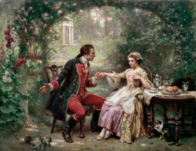 Jean Leon Gerome Ferris - Washington's Courtship