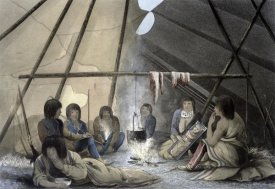 John Franklin - Interior of a Cree Indian Tent