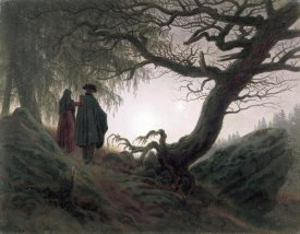 Caspar David Friedrich - Man & Woman Contemplating The Moon