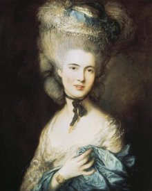 Thomas Gainsborough - A Woman In Blue, Portrait of The Duchess of Beaufort